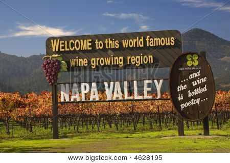 Entrance Sign Vineyards Napa California