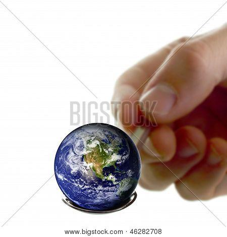 Earth On A Spoon