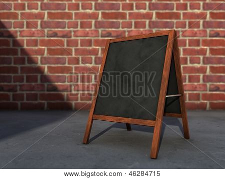 Blackboard On Street