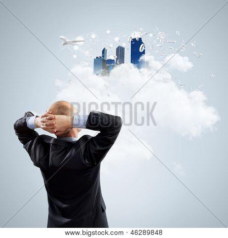 Thoughtful businessman