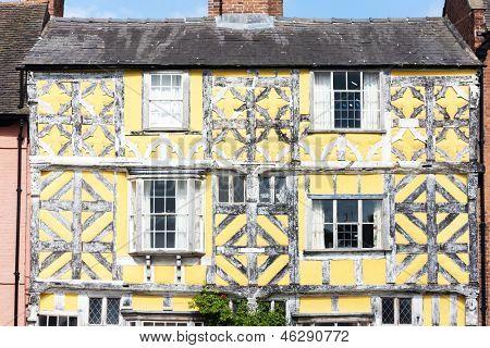 half timbered house, Ludlow, Shropshire, England