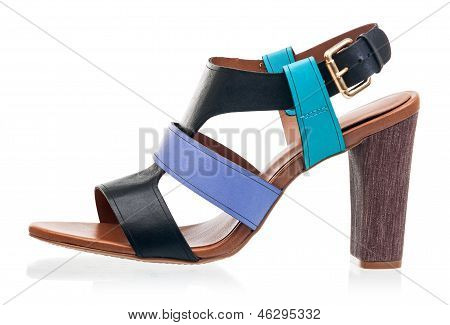 High heel sandal isolated over white