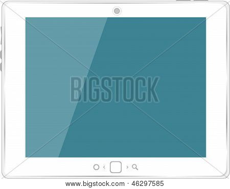 White Generic Tablet Pc On White Background