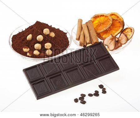 Coffee Chocolate, Coffee Beans, Cinnamon, Orange