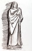 Ancient Roman Woman In A Tunic