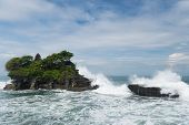 foto of tanah  - Tanah Lot temple in Bali island Indonesia - JPG