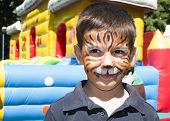 pic of cute tiger  - Child with painted face - JPG