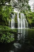 stock photo of cortez  - Llanod de Cortez Waterfall located in Costa Rica - JPG
