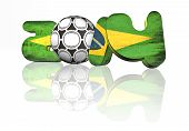stock photo of gaucho  - 2014 world cup brazil on white background with reflection - JPG