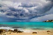 stock photo of hurricane wind  - Hurricane Approaches Caribbean - JPG