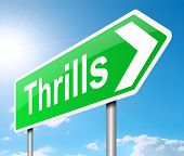 stock photo of titillation  - Illustration depicting a sign with a thrills concept - JPG