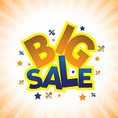 Concept Vector Graphic- Banner Announcing Big Sale Discounted Prices