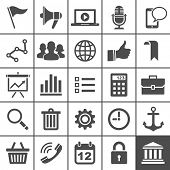 Universele Icon Set. 25 universele pictogrammen voor website en app. Simplus series. Vectorillustratie