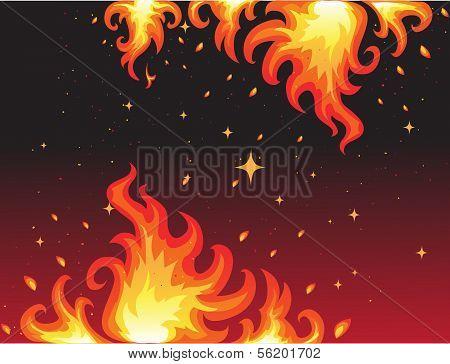 Hot Fire background bunner