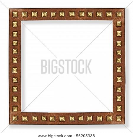 Leather Frame With Metal Rivets