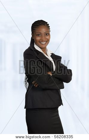 African Business Woman Isolated