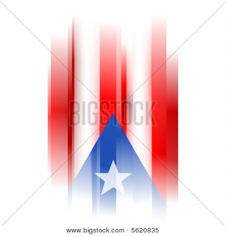 Abstract Puerto Rico Flag On White Background
