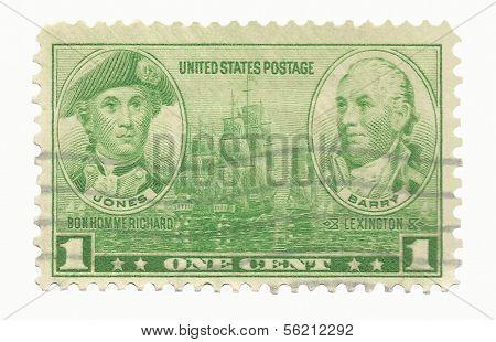 United States Stamp Naval Heroes