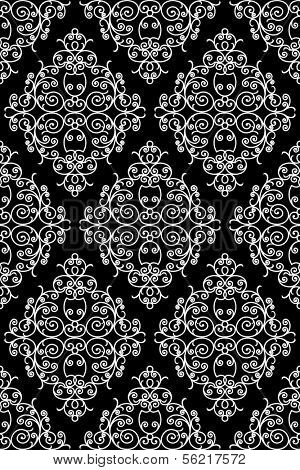 wrought iron pattern - repeating left to right, top to bottom (vector)