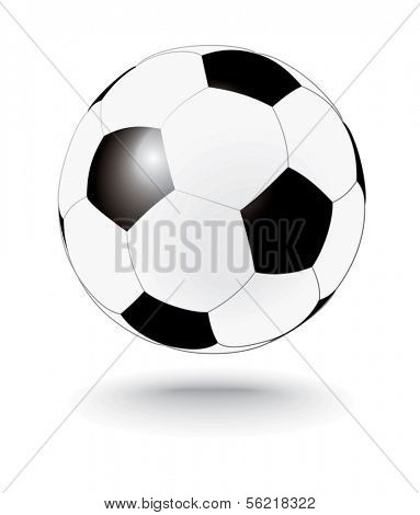 simply black and white soccerball, football