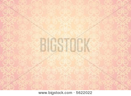 Pink Gold Ornamental Pattern