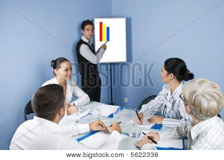 Businessman Presentation At Business Meeting