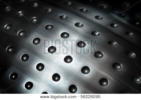 spherical metal surface background with repetition holes