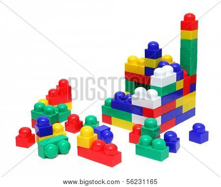 building house of blocks - meccano toy