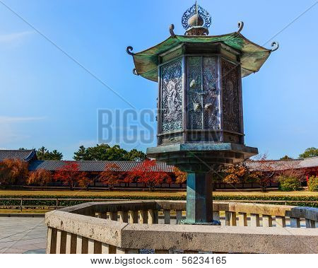 Bronze Lantern in front of Todaiji Temple
