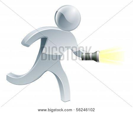 Searching Flashlight Man