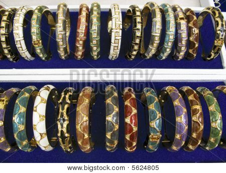 Rows Of Gold Bangles