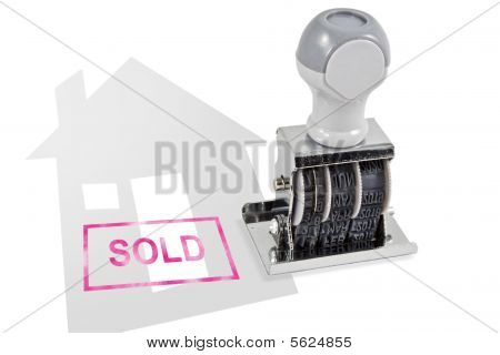 House Sold Rubber Stamp