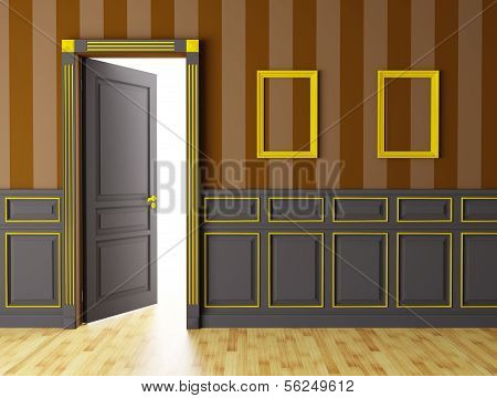 Interior With Opened Door
