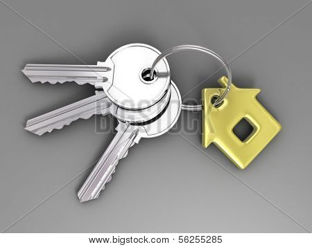 Keys. 3d illustration.