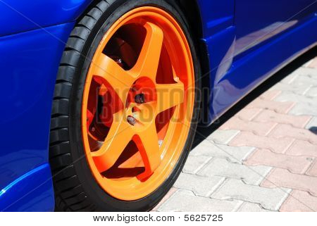 Close Up Of A Yellow Wheel