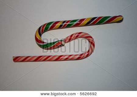 sweet multicolor candy cane Christmas symbol