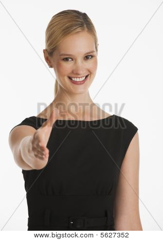 Businesswoman Giving Handshake
