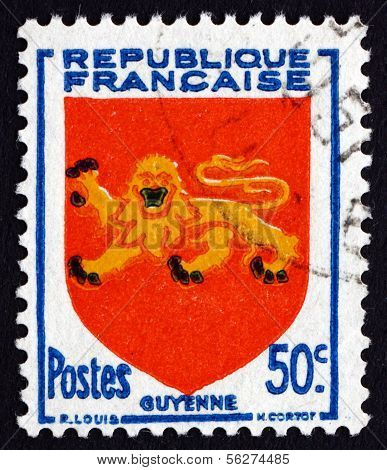 Postage Stamp France 1949 Arms Of Guyenne