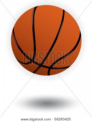 Vector illustration of a Basketball. All objects and details are isolated. White background color is easy to adjust/customize. Shadow effect is optional.