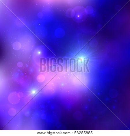 Dark blue cosmic vector background