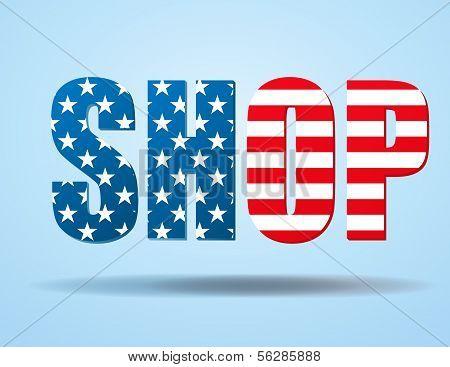 Typography Internet Symbol USA shop
