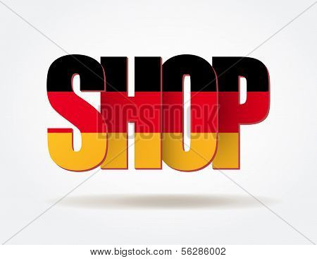 Typography Internet Symbol German Shop