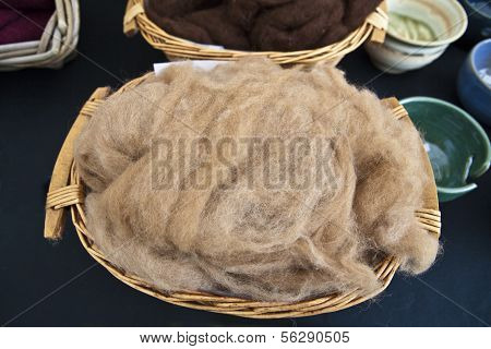 Naturally coloured fleece.