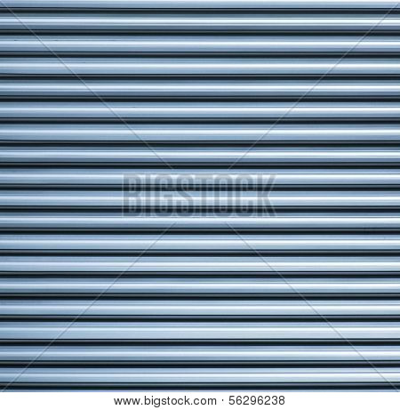 Metal slats. Square to image dimension.
