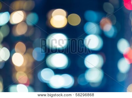 Blurred unfocused city light