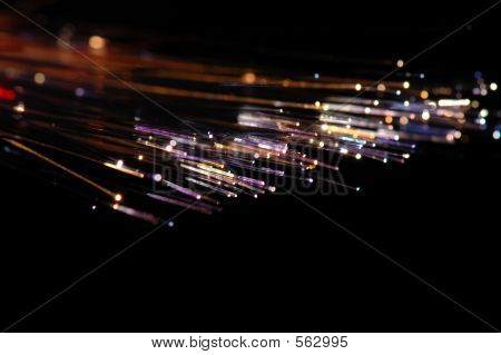 Closeup :colourful Fibre Optic Cable