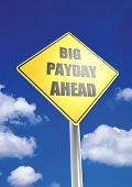 foto of payday  - Big payday ahead image with hi - JPG