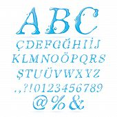Water alphabet Upper Case Italic