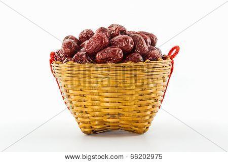 Dried Red Chinese Jujube .