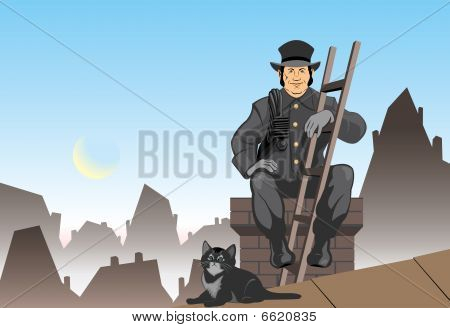 Cat and the chimney sweep
